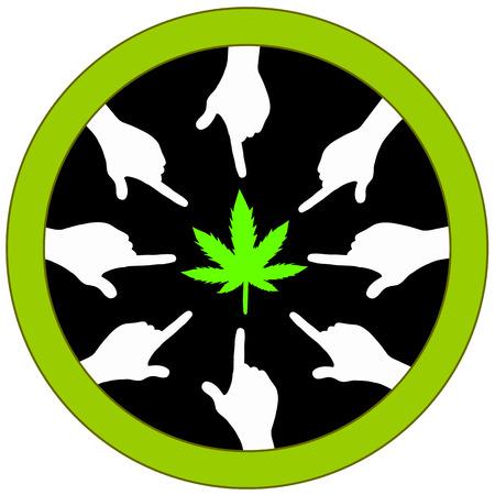 plea: Vote for Cannabis. Concept sign for ballot measure voting to legalize marijuana Stock Photo