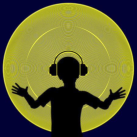 Feeling the Beat. Child with hearing loss experiences the vibration and rhythm of music