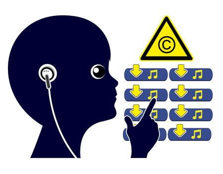 子供は、違法な音楽をダウンロードします。インターネットから違法な曲を使用しないように子供たちを教える