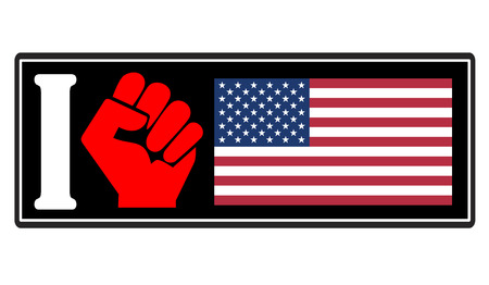 Hatred of America. Concept sign for the residency and hostility against the United States