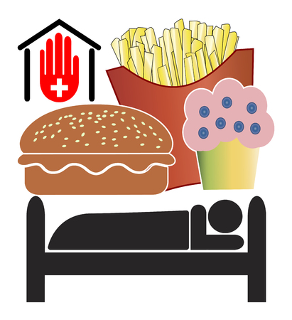 conflicting: No junk food in hospitals. Doctors want to ban fast food from clinics or medical centers for medical reasons