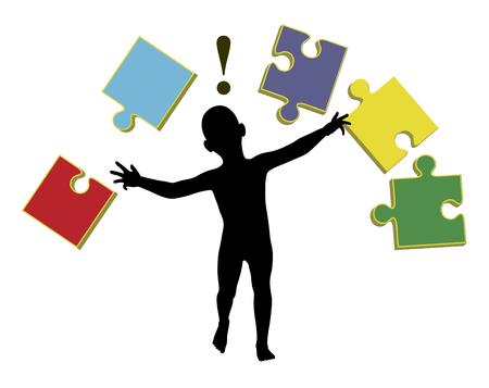 Enseigner aux bébés. Des activités d'apprentissage précoce avec des puzzles pour rendre les bébés plus intelligents