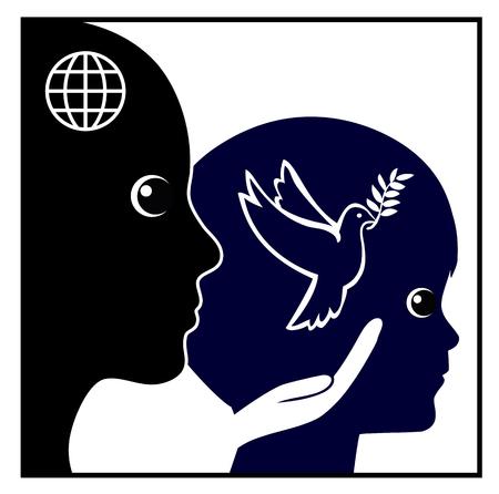 Education à la paix pour les enfants. Enseigner l'attitude et les solutions pacifiques des enfants dans l'éducation de la petite enfance