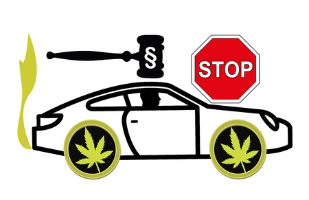 It is illegal to drive stoned. Driving high is considered a criminal offense and gets punished by law Stock fotó