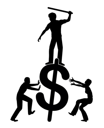Fighting against economic inequality. People demand redistribution of income and wealth Stock Photo