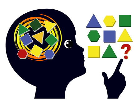 Brain Games for Children. Brain training in early childhood education to sharpen the mind 스톡 콘텐츠 - 101909064