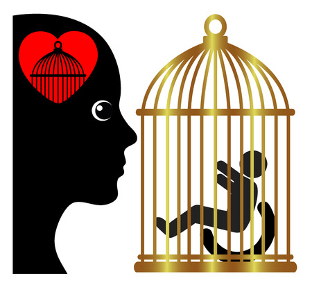 Overprotection of kids with disabilities. Overprotective mother in a totally restricted environment compared to a gilded cage