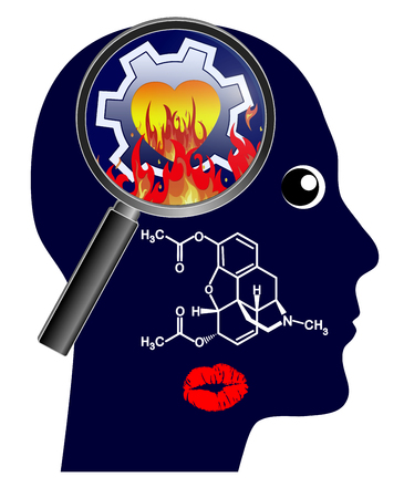 Kisses set the brain on fire. Chemicals make people fall in love