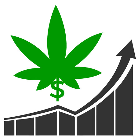 Cannabis stock market. Concept sign for the raising profits on the marijuana market in America and Canada Reklamní fotografie