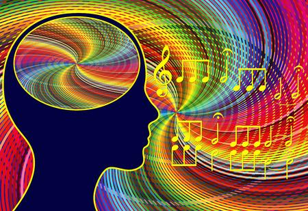 Music activates the brain. Listening and playing music stimulates the brain cells and reliefs stress symptoms Reklamní fotografie