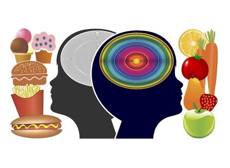 Food affects the brain of kids. Thinking skills, memory and academic performance depend on what our youngsters get to eat Reklamní fotografie - 128543310