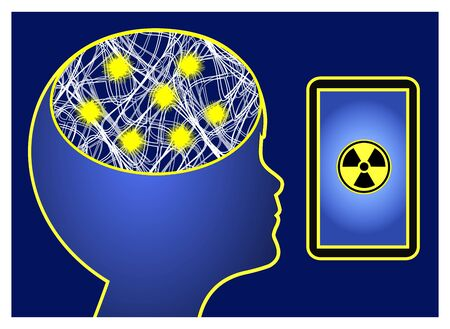 Cell phone radiation triggers epilepsy. Kids and the impact of electronic waves on epileptic seizures Reklamní fotografie