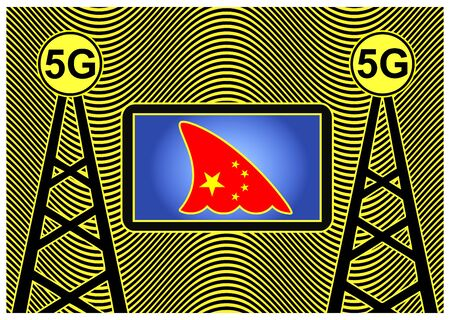 Chinese espionage with 5G technology. Rising the question if the technology from China is a security threat for cellphone of computers