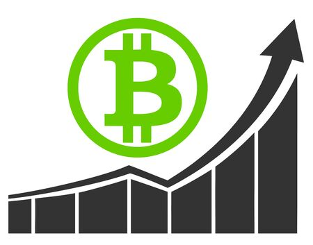 Bull market for Bitcoin .. Promising investments for the future in crypto currencies Reklamní fotografie - 128543431
