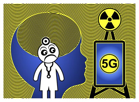 5G technology harms kids. Cell towers and the use of smartphone affect the health of young people