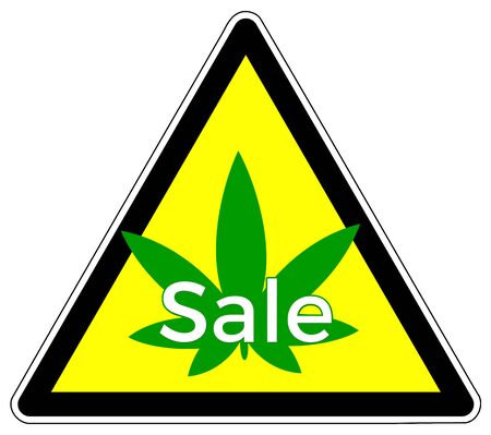 Cannabis on sale. Special bargain for buying marijuana products Banque d'images