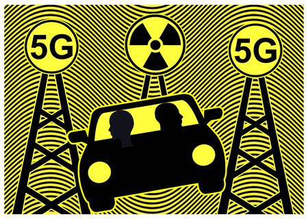 5G radiation and autonomous driving. The exposure to radiofrequencies harms the human health while going driverless.