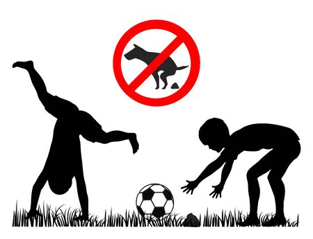 Health risk for children in play areas and parks due to dog poop