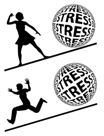 Women are much stronger than men. Gender difference in coping with stress, females exceed males. Banque d'images