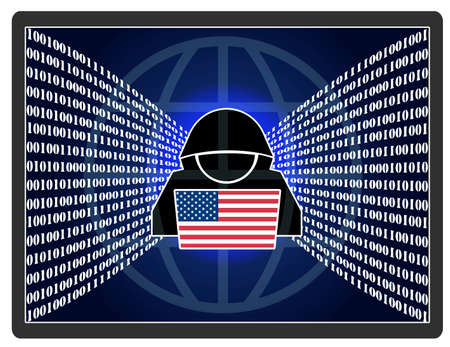 US espionage abroad. The global intelligence operations of the United States on the internet. Standard-Bild
