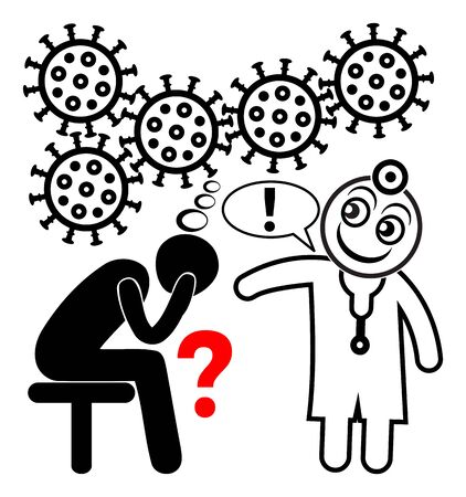Coronavirus hotline. Patient in need of psychological support during the COVID-19 pandemic.