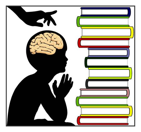 Promoting brain development. Supporting kids in order to develop mental skills in early childhood. Banque d'images - 147705561