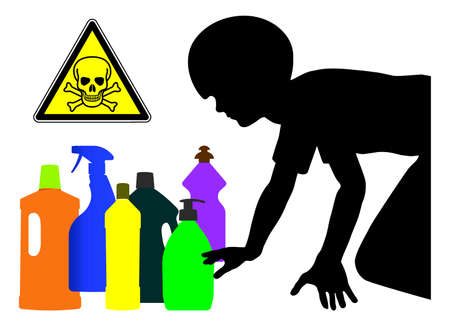 Household detergents are dangerous for kids. Keep your laundry and cleaning products away from children, they are poisoning.