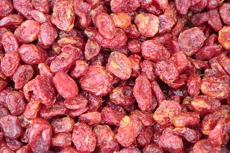 human health: Gorka secos, tomates sabrosos, con una gran cantidad de nutrientes beneficiosos para la salud humana. Foto de archivo