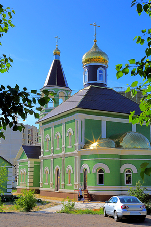street creed: One of the numerous of both old and newly created religious buildings of Lipetsk. Stock Photo
