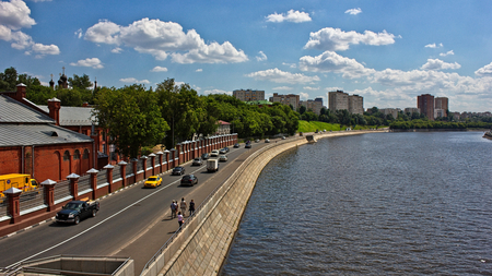 Quays of the Russian capital.