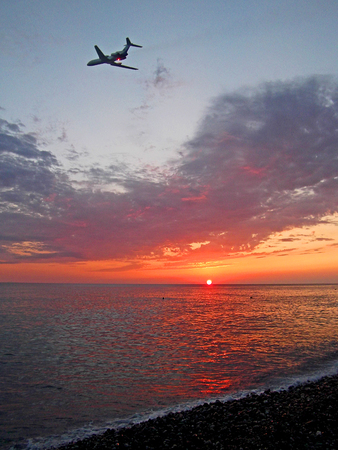 Sunset at the Black Sea.