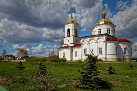 Orthodox Temple on the outskirts of the village in the Russian outback.