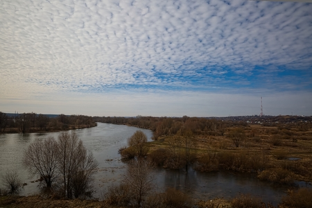 Spring spill of the Voronezh river in central Russia