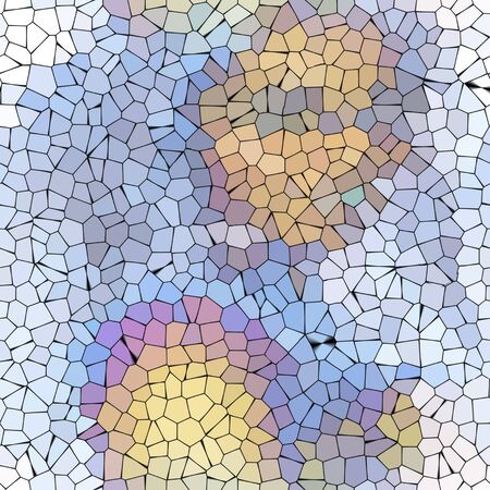 obnoxious: White violet abstract mosaic pattern