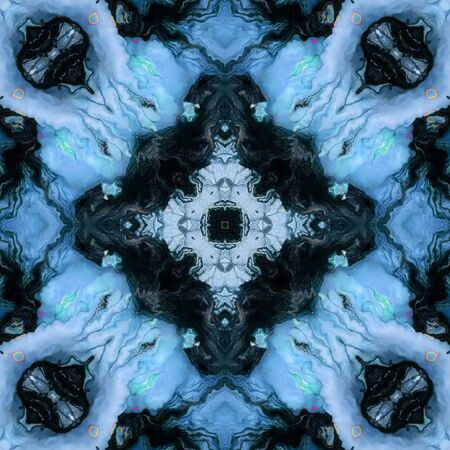 obnoxious: blue ornamental pattern Stock Photo