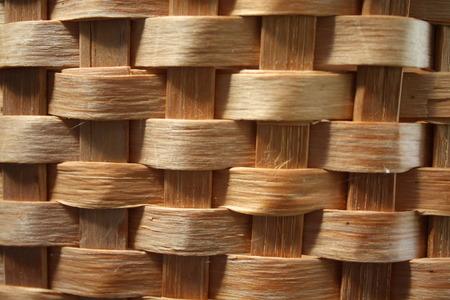 raffia: Texture of raffia basket in detail background
