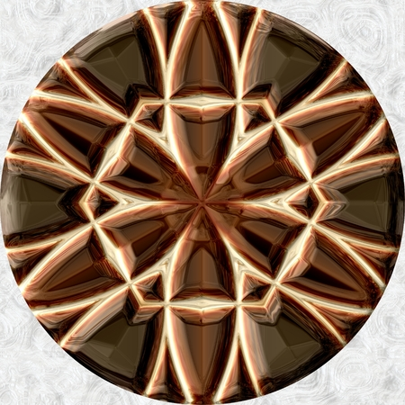 underlay: Decorative circle, which can be used as underlay of resinglass jewellery Stock Photo