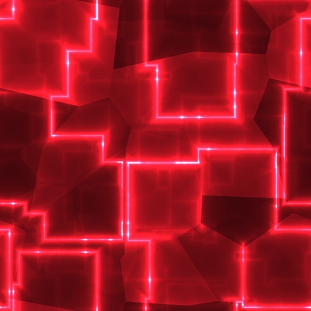 abstract cubes: Carmine red abstract cubes image