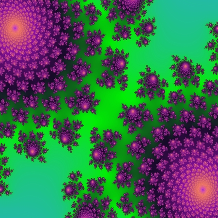 gree: Bright neon green and ultra purple effective and beautiful floral pattern
