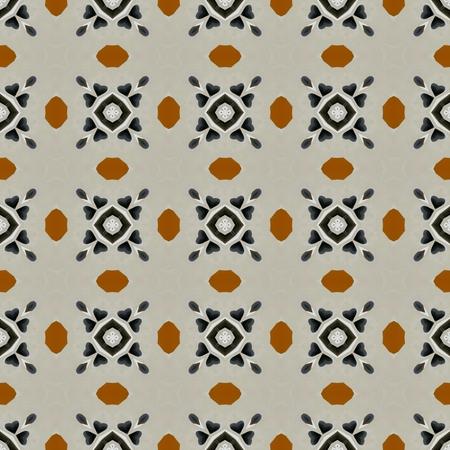 ecru: Toffee coffee decoration on grey wall pattern Stock Photo