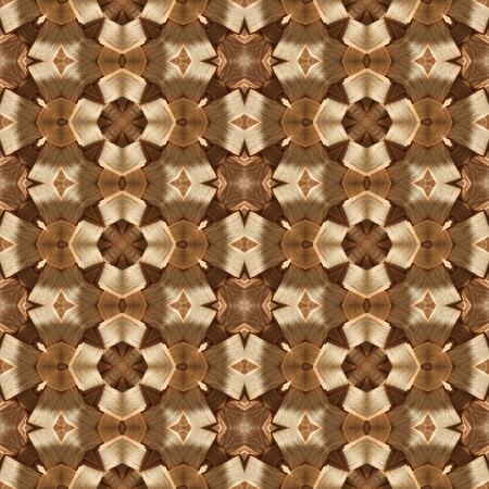 creamy: Brown creamy ornamental wallpaper design pattern Stock Photo