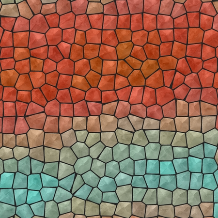 underlay: Mosaic blue and red abstract unique background