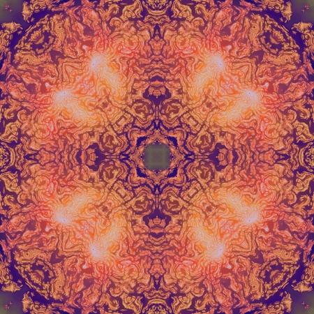 Squared original unique mandala meditation image background Stock Photo
