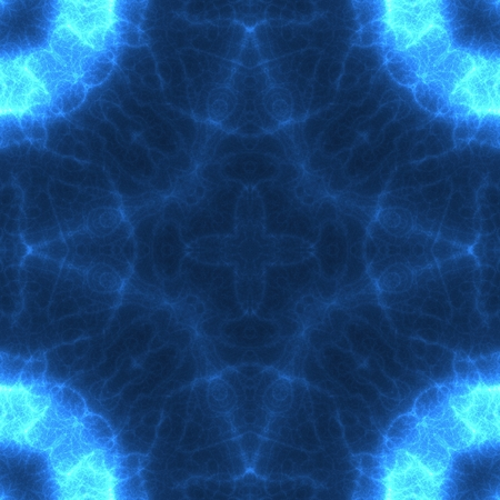 Mysterious blue star abstract geometrical image