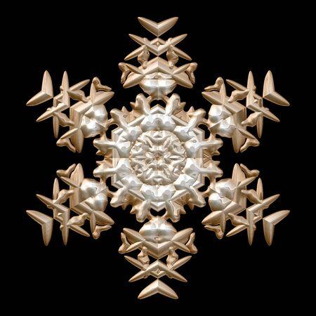 mettalic: Bronze and silver mettalic winter snowflake image