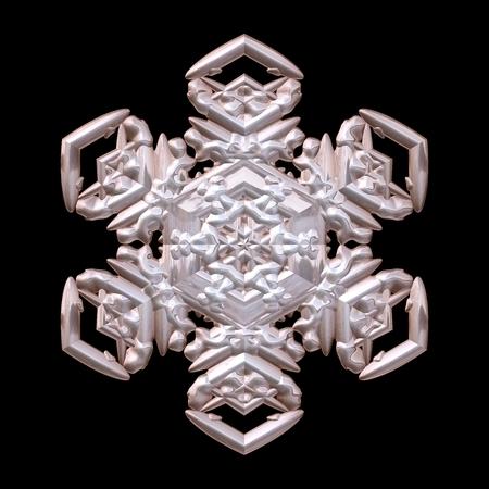 bronzed: Snowflake winter deco 3D rendering motif
