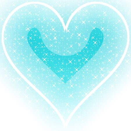 Sparkling glittery abstract blue heart