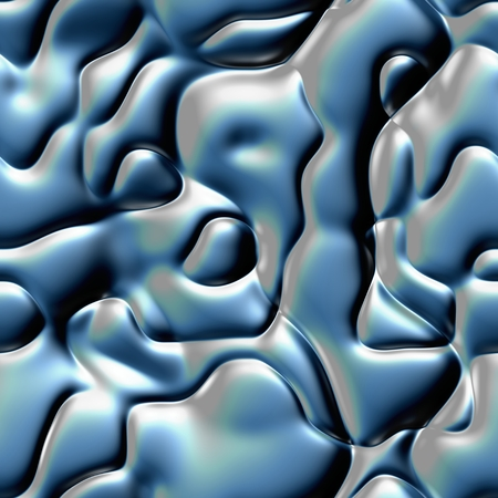Blue shiny abstract 3D metal design texture