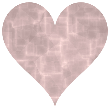 parter: Old pink abstract big heart shape image Stock Photo