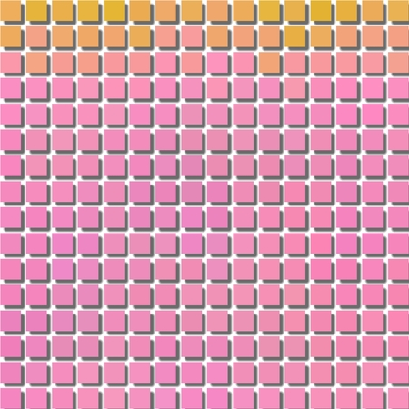 Pixelization cubes pink abstract cool background